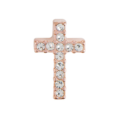CH5033 Rose Gold Crystal Cross Charm1 1 copy